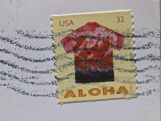 Aloha, the new postcard stamps