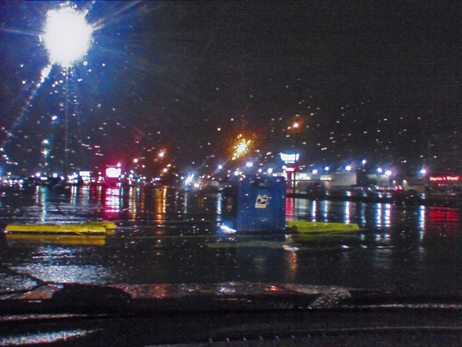 Impressions of rain on a summer night