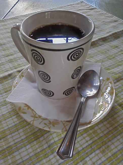 A graphic cup of coffee