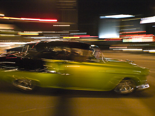 Cruising Glenstone in a 1956 Chevy during the 2012 Streetrod Nationals