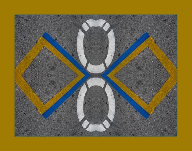 An Abstracted Pavement Mandala