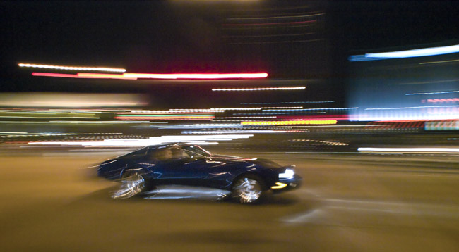 Blue Corvette an Homage to Ernst Haas's Bull Fights
