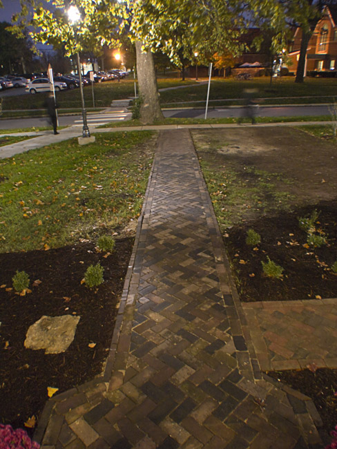 The brick sidewalks of the the Rose O'Neill family home were repaired