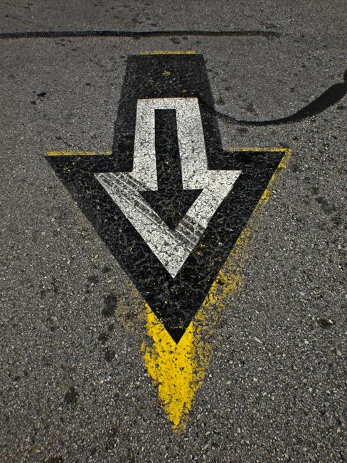 Arrows a parking lot composition