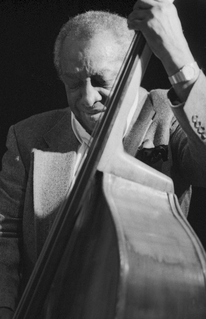 Milt Hinton had a show of his Jazz photography at the School of Performing Arts in Houston during FotoFest, 1992. Milt treated everyone who attended the opening to a night of amazing music.