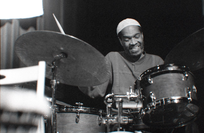 I miss the spirit of Billy Higgins, circa 2002. Billy Higgins graced the small stages of the Healdsburg Jazz Festival. When Billy sat down to play his drums a smile never left his face. Drumming was the joy of his life.