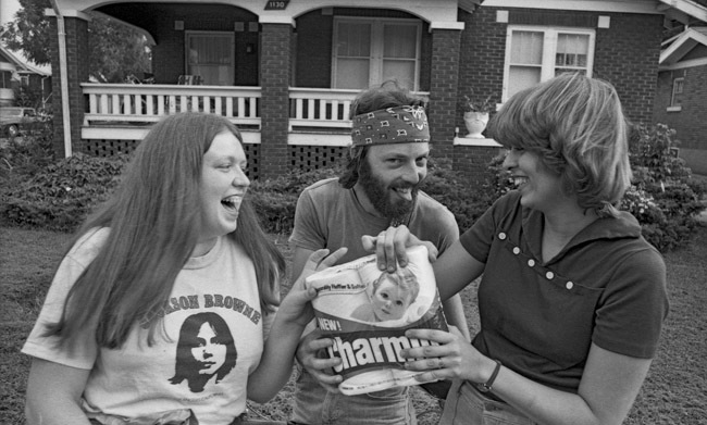 "Ted Burk and the Girls did not heed Mr Whipple's request ""Please don't squeeze the Charmin"", circa 1978"