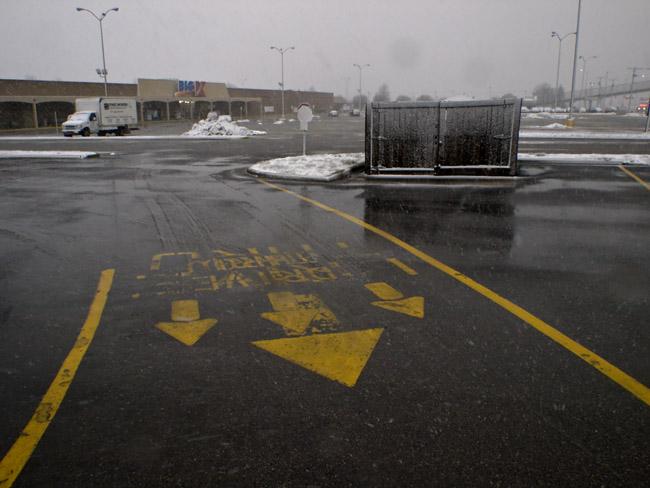 The Kickapoo Center parking lot.