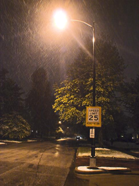An Ozark Postcard, Spring snow in Springfield, MO