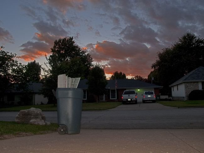 The Trash Can Sunset