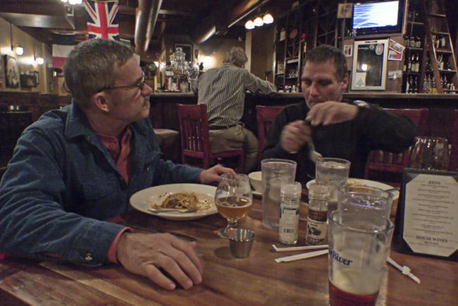 Supper with David Massey and Gordon Cox at Farmer's Gastro Pub