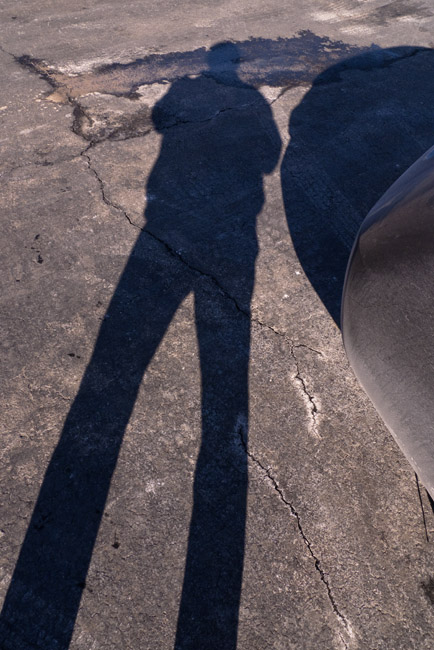 Shadow composition, a personal homage to Lee Friedlander