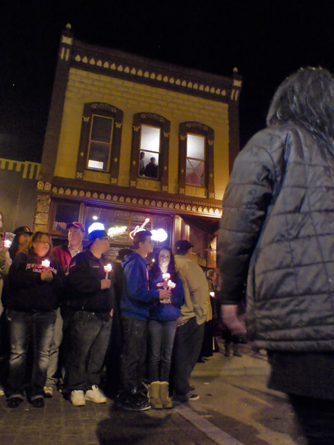 Hailey's family waited on the second floor of Liindberg's before the start of the Candle light vigil.