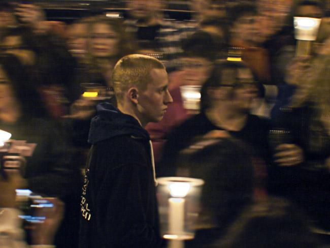 Hailey's candle light vigil.