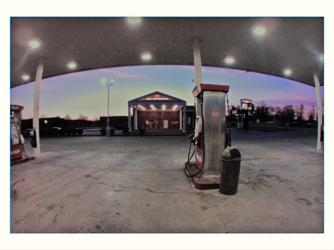 Gas Station Sunset, a Little Cyclops photo