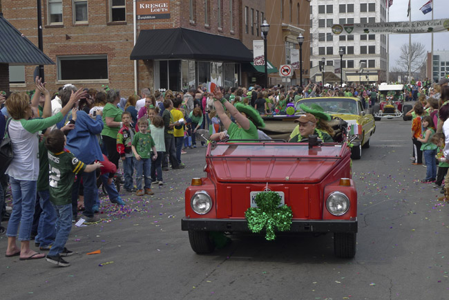 Everyone wanted parade candy