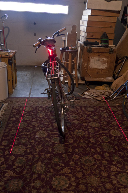 My new laser, led tail light for my bicycle