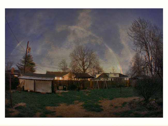Backyard Double Rainbow, a Little Cyclops landscape