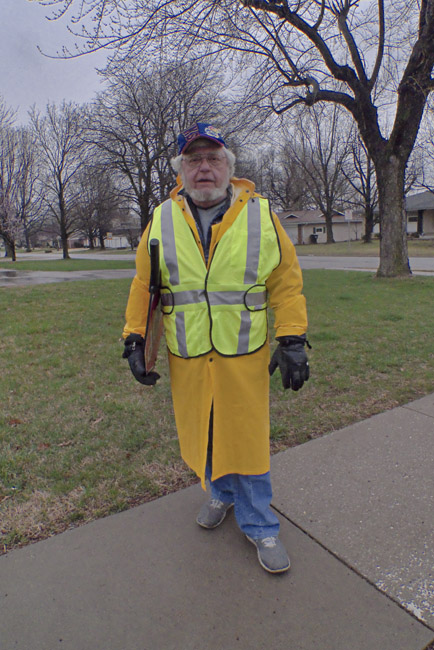 Daryl the Horace Mann Elementary crossing guard