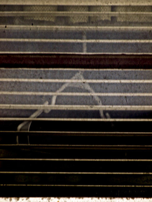 Venetian Blinds and a Coat Hanger