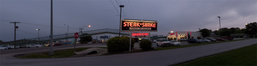 Steak and Shake panorama on South Campbell