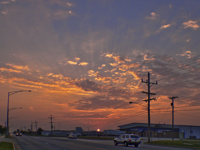 July 23, 2014, setting sun