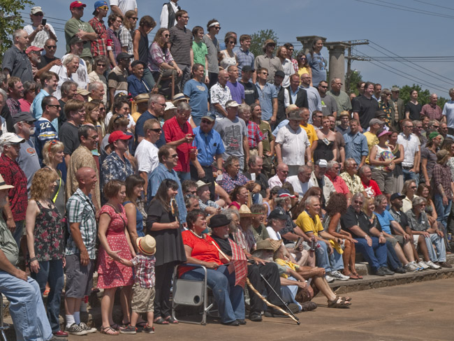"Musicians gathered for Steve Spencer's ""Great Day in Springfield"" group portrait, circa 2013"