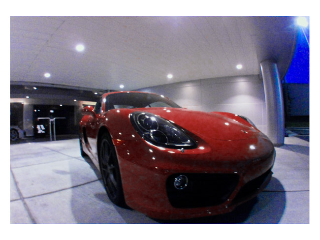 Red Cayman S at night, a Little Cyclops dream