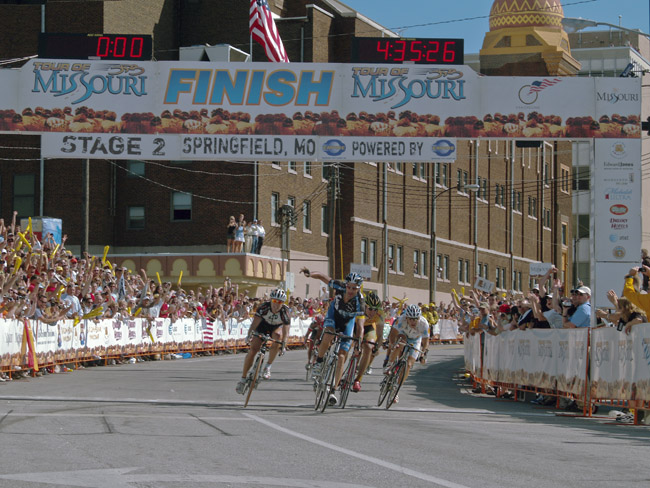 "George Hincappie won the 2nd stage of the first ""Tour of Missouri"" in 2006"
