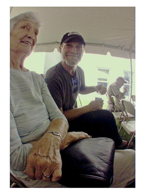 Jeff Sowards and his mother Pat Sowards, a Little Cyclops portrait