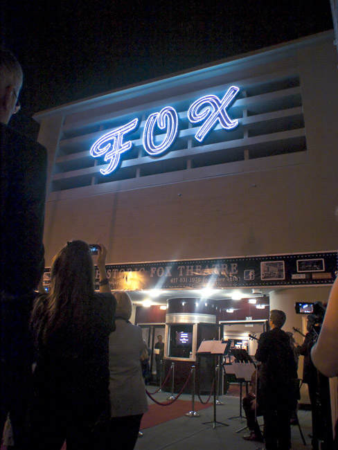 The lighting of the Fox Theater sign