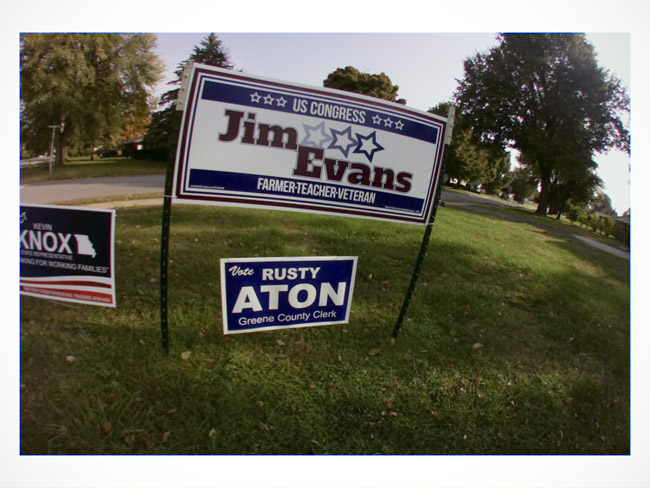 Billy Long has been a dismal failure. I am voting for Jim Evans, a Little Cyclops photo