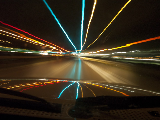Rain dance on Highway 63