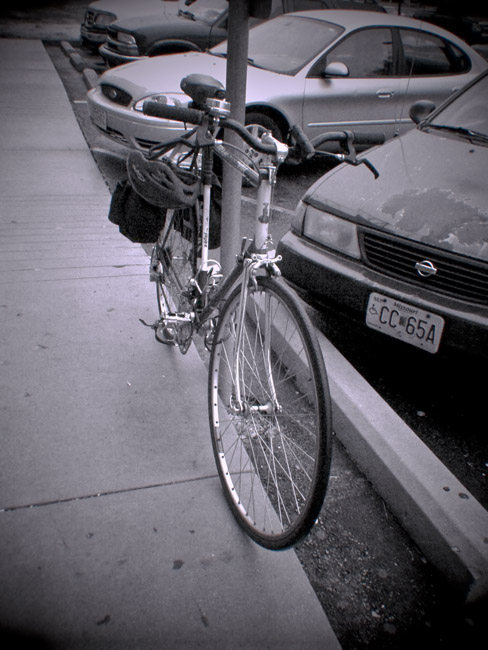 My trusty old Raleigh Record, a Digital Diana photo