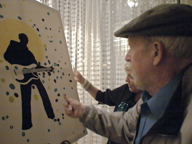 Lou Whitney's friends put their mark on his silhouette