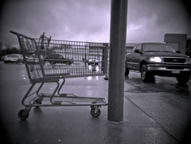 Walmart parking lot, a Digital Diana Landscape