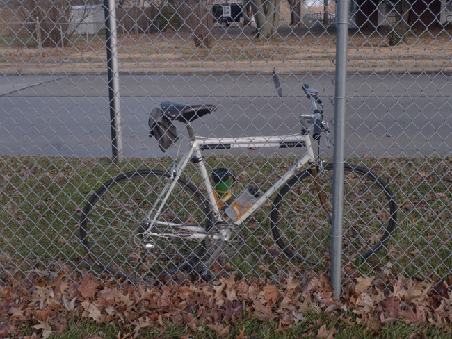 Still-life with Chain link and Schwinn Paramount