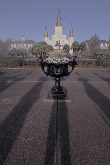 My shadow was cast on Jackson Square, an homage to Lee Friedlander