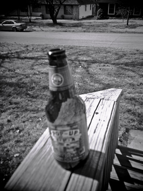 Empty Beer Bottle, 100 Days of the Mundane