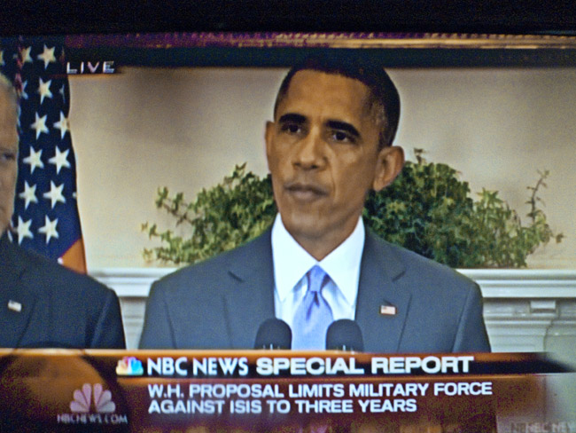 President Obama asked Congress to back his proposal to eradicate ISIL
