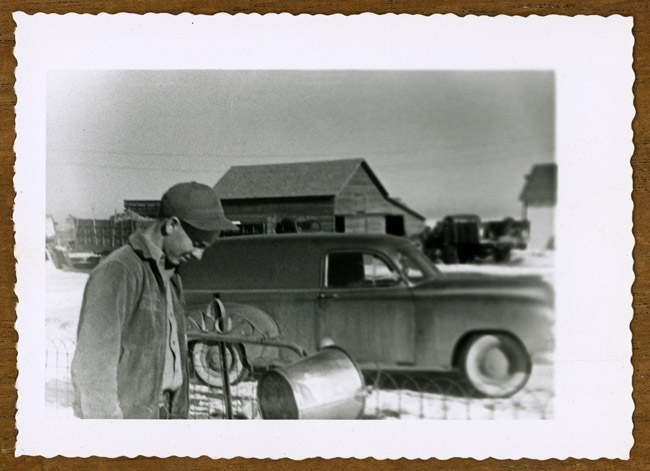 Bernard James Radke on the family farm in Perkins County Nebraska