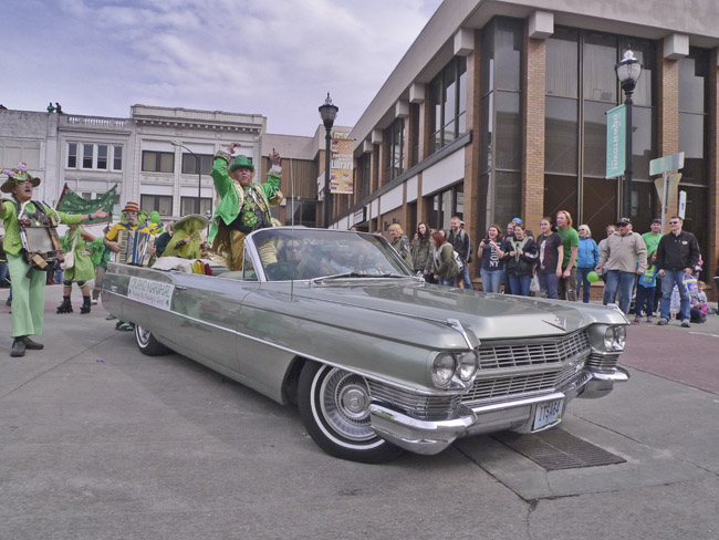 Rocky the Leprechaun was the Grand Marshall
