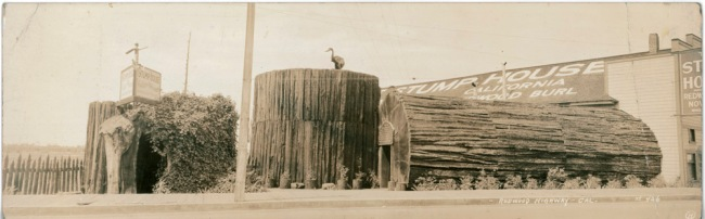 Stump House souvenir panorama, circa 1930's
