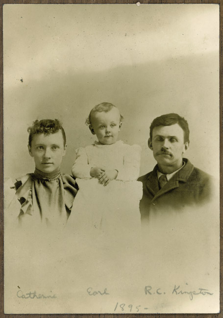 Catherine, Earl and RC Kingston, circa 1895