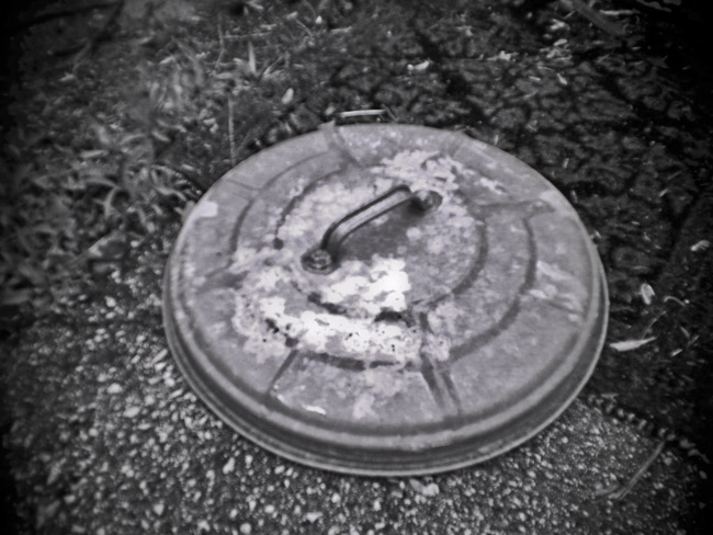 Trash Can Lid, 100 Photographs of the Mundane