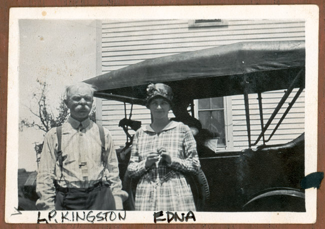 LP Kingston and Edna Kingston.LP was a seasonal roustabout for Buffalo Bill's Wild West Show and when he wasn't working for the show he spent his time helping out on RC's farm in Arborville Nebraska. Edna left Nebraska and earned a teaching degree At DU (Denver University). She spent time teaching in Colorado, became the Superintendent of Schools in Moab, Utah and finished her career teaching English at Julesburg, HIgh School in Julesburg, Colorado.