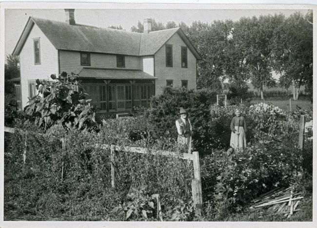 John and Mary Kingston in their garden.