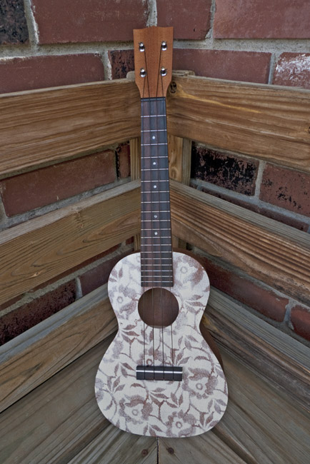 The Wallflower a painted concert ukulele, front
