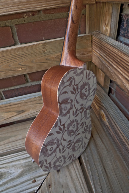 The Wallflower a painted concert ukulele, side and back