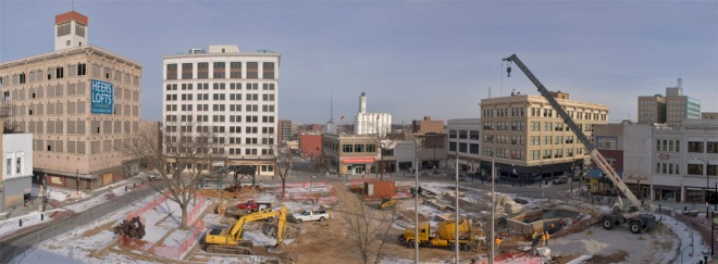 Renovation of Park Central Square, circa 2011